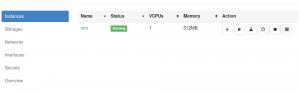 WebVirtMgr interface